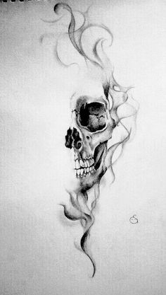 Small Skull Tattoo, Skull Rose Tattoos, Skull Sleeve Tattoos, Dark Art Tattoo, Forearm Sleeve Tattoos, Skull Tattoo Design, Tattoo Design Drawings, Tattoo Flash Art, Leg Tattoos