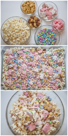 Candy Popcorn is an easy and simply treat that is perfect for family movie night or any family gathering or party you may be hosting. Here is a great Candy-Coated Popcorn recipe with chocolate candy pieces and cookies! Candy Coated Popcorn Recipe, Popcorn Mix, Sweet Popcorn, Popcorn Snacks, Candy Popcorn, Popcorn Recipes, Party Snacks, Yummy Treats, Sweet Treats