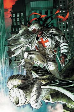 """""""My swords shall not sleep until I have served his justice on this city! REPENT, GOTHAM! YOU CITY OF VIPERS!"""" Michael Lane, Azrael - Guillem March"""