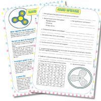 Vos élèves veulent tout savoir sur le hand spinner ! Voici une fiche de lecture et un questionnaire sur le hand spinner ! Ouvrir les documents dans un nouvel onglet ! Lecture ICI...