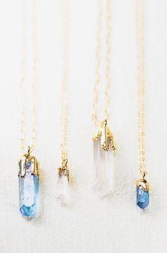 Hokupa'a necklace gold quartz pendant necklace