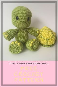 Amigurumi Turtle Toy Free Crochet Pattern By Yarnspirations On Ravelry Klicke um das Bild zu sehen. Amigurumi Turtle Toy Free Crochet Pattern By Yarnspirations On Ravelry –Knitting Patterns Gifts Amigurumi Turtle Toy Free Crochet Pattern By Yarnspiratio Crochet Turtle Pattern Free, Crochet Animal Patterns, Crochet Patterns Amigurumi, Stuffed Animal Patterns, Crochet Dolls, Free Pattern, Crochet Costumes, Cute Crochet, Crochet Crafts
