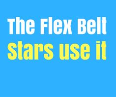 Flex belt gives you six pack abs but you have to work for it  Stars use it like Denise Richards