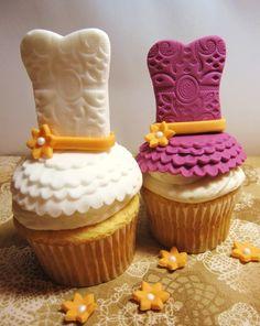 Tutorial para hacer cupcakes con forma de vestido.