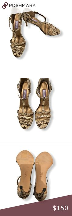 PRIORI Snakeskin Sandals Heels SZ 9.5 PRIORI Snakeskin Sandals Heels New without box Size: 9.5 Color: beige/brown priori Shoes Heels