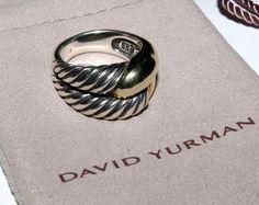 Authentic David Yurman Sterling Silver 14k Yellow Gold Infinity Rope Ring Sz 6 | eBay
