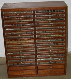 Salter's spool silk 32 drawer thread cabinet- 39 inches