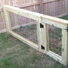 Cattle panel fence--perfect dog run gate!