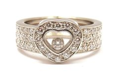 white gold Chopard wedding ring with heart shaped design