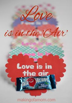 Love is in the 'Air' Valentine's Day Card with free printable and Silhouette cut file for easy crafting!