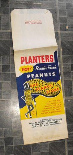 Planters Mr. Peanut Rosted Fresh Peanuts Bag Unused 17 Inches Long #mrpeanut #plantersnuts #collectibles #advertisingcollectibles #peanuts #advertisingcharacters #memorabilia