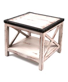 Intentionally-Distressed End Table | zulily