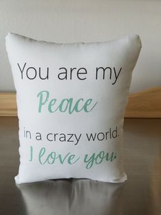 I Love You Pillow Birthday Gift Quote Cushion Cotton Throw