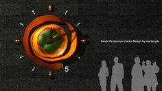 2014 Sweet Persimmon Clocks Design by startemple