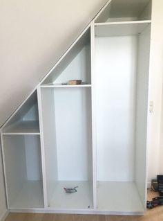 Staircase Storage, Loft Storage, Stair Storage, Attic Bedrooms, Basement Bedrooms, Bedroom Loft, Bedroom Decor, Wall Decor, Loft Closet