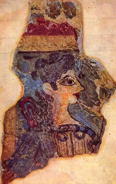 SZTUKA EGEJSKA: Paryżanka – malowidło z Knossos