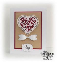 Our Daily Bread Designs Stamp Set: Let Love Grow, Custom Dies: Small Bow, Tulip Heart, Labels