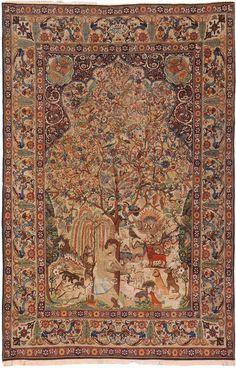 Antique Kerman Persian Rug # 2910 Detail/Large View - By Nazmiyal