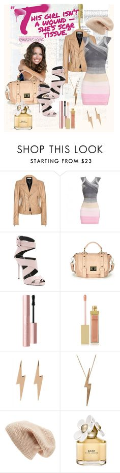 """""""This girl isn't a wound - she's scar tissue"""" by julyralewis ❤ liked on Polyvore featuring Balenciaga, Giuseppe Zanotti, Sole Society, Too Faced Cosmetics, AERIN, Edge Only, Marc Jacobs, women's clothing, women's fashion and women"""