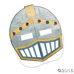 Color Your Own Knight's Mask. Design a regal creation in your favorite colors! A fun craft activity for your Mighty Kingdom VBS theme, this coloring ...