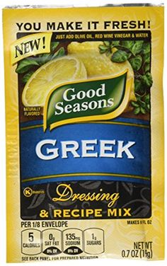 Authentic Good Seasons Single Pack, Greek, 0.7 oz, ,