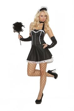 Look at this Black & White Ruffle Chamber Maid Costume Set - Women by Elegant Moments Sexy Adult Costumes, Sexy Costumes For Women, Sexy Halloween Costumes, Girl Costumes, Maid Costumes, Maid Halloween, Adult Halloween, Halloween Ideas, Leg Avenue Costumes