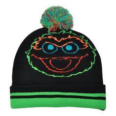 Sesame Street Oscar the Grouch Day Glow Black Beanie Hat Sesame Street http://www.amazon.com/dp/B009YK0D6S/ref=cm_sw_r_pi_dp_ALP7wb1KZ23M5