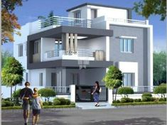 Durga Homes Phase - II offers 4 BHK Apartments/Flats upto 3000 SqFt starting at Lakhs in Chandanagar, Hyderabad. Two Story House Design, 2 Storey House Design, Duplex House Plans, Bungalow House Design, House Front Design, Modern Exterior House Designs, Best Modern House Design, Beautiful House Plans, Simple House Plans