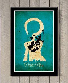 Peter Pan  Art Print / Poster by MINIMALISTPRINTS on Etsy, $18.00