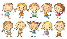 Illustration about Ten happy cartoon kids colored in a doodle style/pencil imitation, no gradients, isolated. Illustration of drawing, cute, clip - 50638374 Happy Cartoon, Cartoon Kids, Image Svg, Creative Sketches, Pencil Illustration, Toddler Preschool, Coloring For Kids, Business Card Logo, Watercolor And Ink