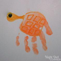 Under the Sea Handprint - Footprint Art - Night Owl Corner