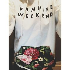 so I don't really like vampire weekend, but I love this floral pocket on this white hoodie