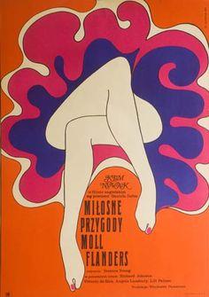 By Wiktor Gorka, 'Moll Flanders', 1 9 6 9, Polish Movie Poster (English film).