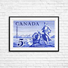 Canadian Poster, Exploration, Explorers, Adventure Time, Canadian Art, Made in Canada, History Canada, Canadian History, Historical Prints