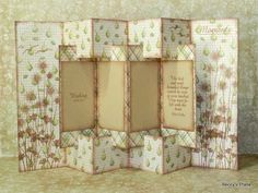 Concertina cards are fabulous display cards that have a concertinaed or fan-folded centre.  They are constructed out of a few pieces of hea...