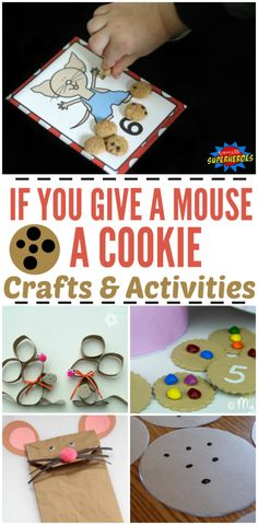 25 If You Give a Mouse a Cookie Preschool Crafts & Activities Preschool learning & play is so important-so is incorporating a love for books! These 25 If You Give a Mouse a Cookie activities will put a smile on. Preschool Craft Activities, Preschool Books, Free Preschool, Preschool Lessons, Preschool Learning, Preschool Activities, Activities For Kids, Teaching, Alphabet Activities