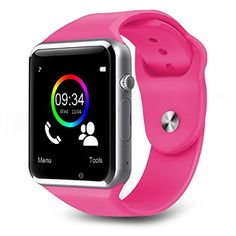 Bluetooth Smart Watch A1 Bluetooth Waterproof GSM SIM Phone Smart Watch For Android IOS  Smart Phones Pink *** Read more  at the image link.