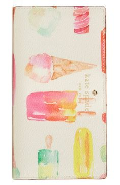 Just in time for the warmer months, this Kate Spade wallet features icy cool treats such as ice cream cones and popsicles. Too cute!