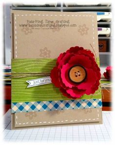 Scalloped circle flower by minders... absolutely love this card!!!