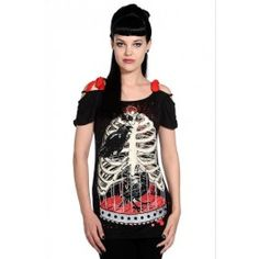 Banned - Bird in Skeleton Cage Shirt, NYT 20€ (norm.29,90€)/ www.backstreet.fi