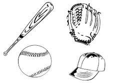"""Résultat de recherche d'images pour """"coloriage baseball"""""""