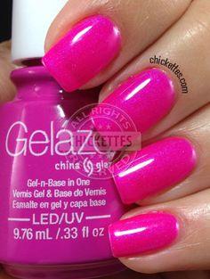 Gelaze Purple Panic Swatch from Chickettes.com #Gelaze #ChinaGlaze #gelpolish