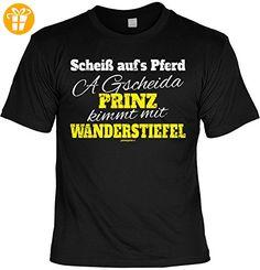 Wander T-Shirt A gscheida Prinz kimmt mit Wanderstiefel Kletter Bergsteiger Shirt 4 Heroes Geburtstag Geschenk geil bedruckt (*Partner-Link)
