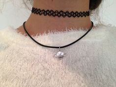 TATTOO CHOKER AND SATURN AND CHOKER