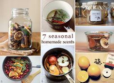 1. Fall Potpourri 2. A Winter Recipe 3.Christmas in a Jar 4. Homemade Potpourri Gift 5. Cranberry  Cinnamon Stove Top Potpourri 6. Homemade Simmering Spices 7. Orange Pomanders