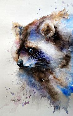 """Szop"" watercolor Edyta Suszek"