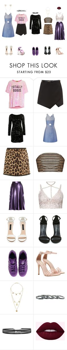 """""""the clique: night life"""" by weirdestgirlever ❤ liked on Polyvore featuring Wildfox, Miss Selfridge, N°21, Gucci, Forever New, Shoe Cult, adidas, Made, Southwest Moon and Charlotte Russe"""