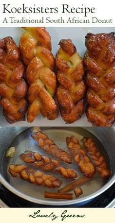 foods, Koeksisters Recipe - a traditional South African donut made with a simple dough and sweet, spiced syrup. South African Dishes, South African Recipes, South African Braai, South African Desserts, Africa Recipes, Donut Recipes, Cooking Recipes, Dessert Recipes, Oven Recipes