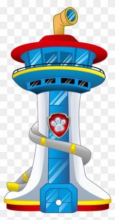 Paw Patrol Png, Paw Patrol Tower, Paw Patrol Cartoon, Paw Patrol Stickers, Paw Patrol Clipart, Paw Patrol Birthday Theme, Dog Birthday, Paw Patrol Lookout, Imprimibles Paw Patrol