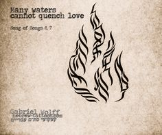Many waters cannot quench love, Song of Songs by hebrew-tattoos.com #hebrew #calligraphy #tattoo #prayer #Jewish #bible #quote